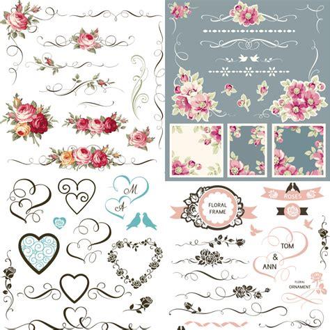 wedding design elements vector free wedding decoration elements vector free vectors images