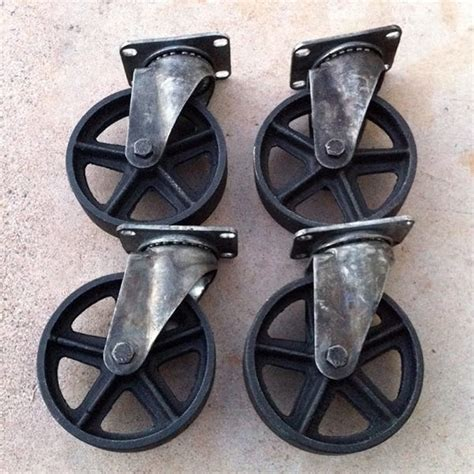wheels for outdoor furniture 5 top mount swiveling casters vintage industrial furniture