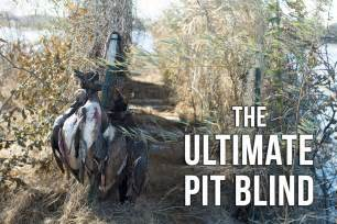 duck pit blinds mossberg creative duck blind plans a pit blind
