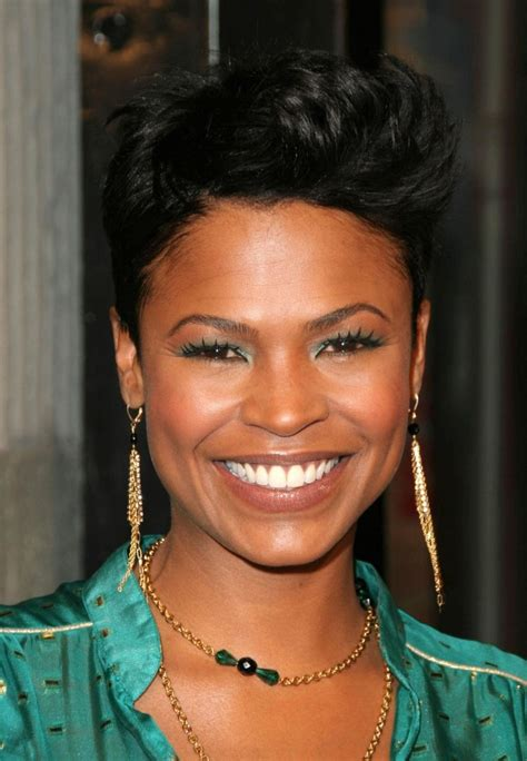 How To Style Hair Like Nia Long | pixie cut nia long wedding hairstyles for short hair