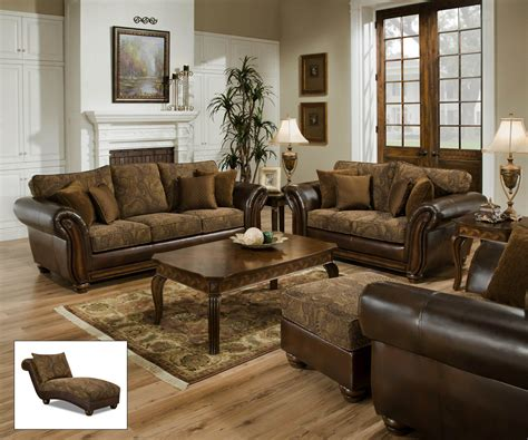 simmons zephyr vintage leather and chenille sofa zephyr vintage tobacco sofa and loveseat living room sets