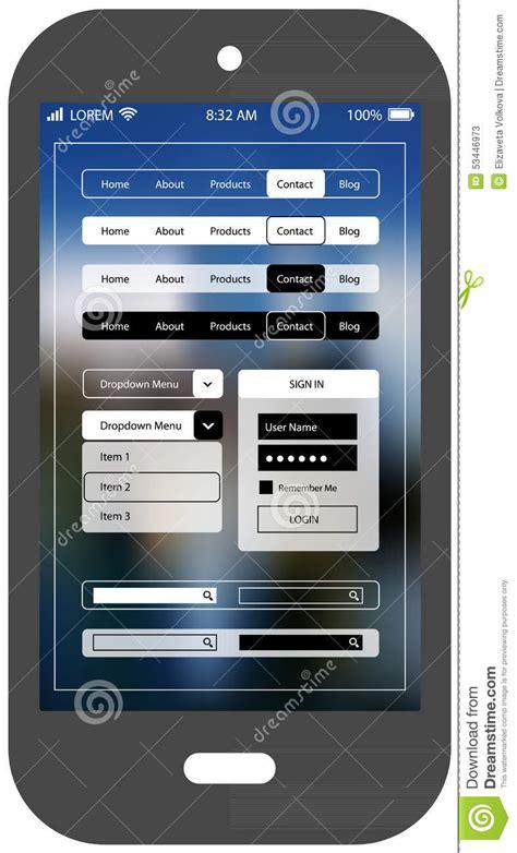 design app smartphone flat ui design smartphone mobile app template stock