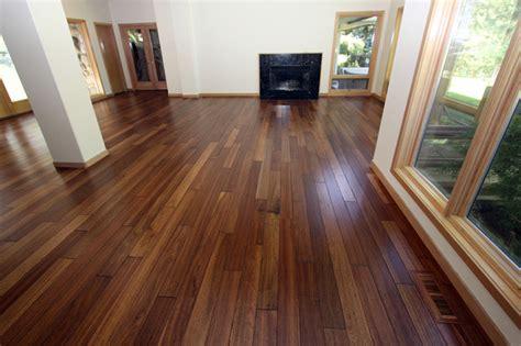 mahogany scraped hardwood floor contemporary