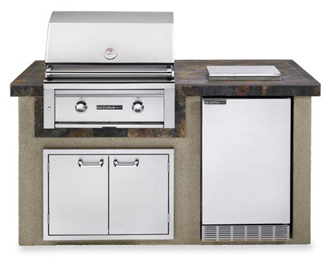 sedona by lynx deluxe bbq island with 30 inch natural gas lynx sedona island package