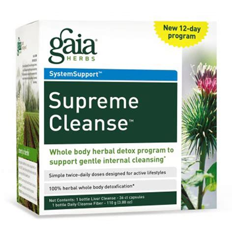 Herbs To Detox by Gaia Herbs Supreme Cleanse 12 Day Program Iherb