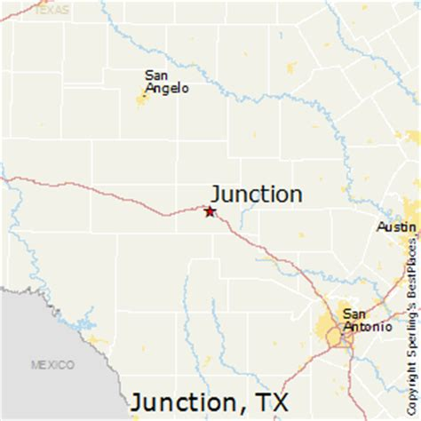junction texas map best places to live in junction texas