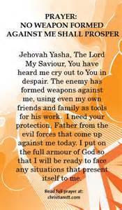 prayer no weapon formed against me shall prosper
