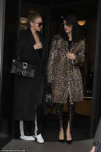sweet gigi ii set 122 x70 gigi and bella hadid emerge from their hotel in milan