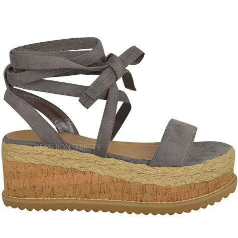 womens flatform sandals womens flatform cork espadrille wedge sandals ankle