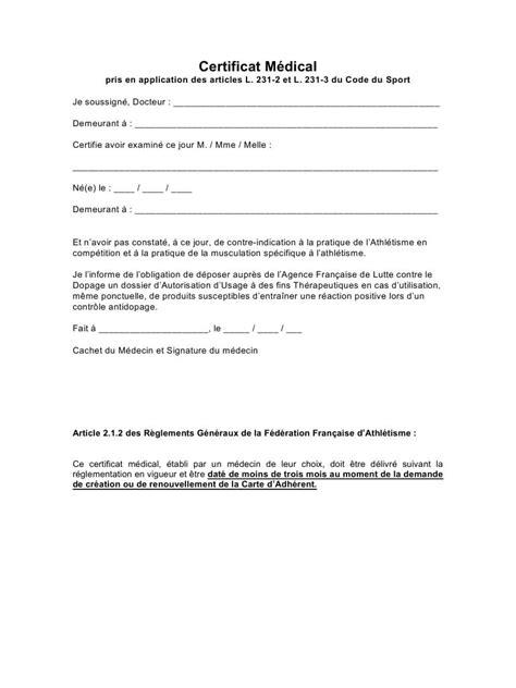 ANNEXE – CERTIFICAT MEDICAL par anne chemineau - Fichier PDF