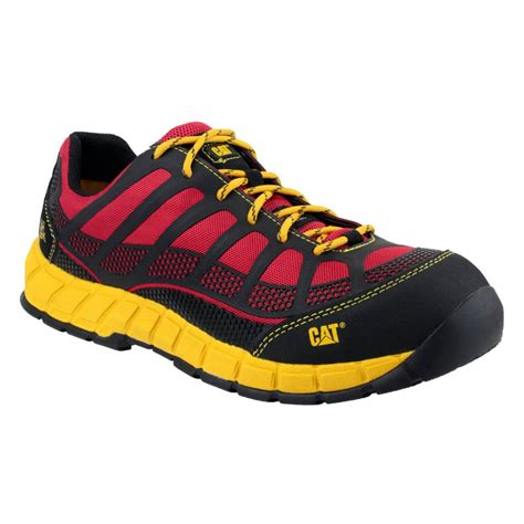 caterpillar streamline metal free and yellow safety work trainers