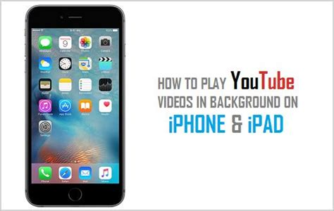 play youtube   background  ipad iphone