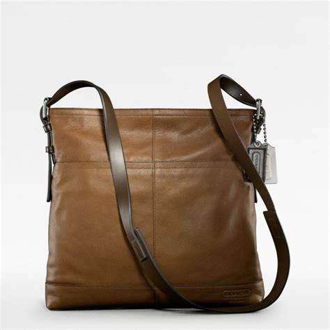 Coach Crossbody Large coach thompson leather large zip top crossbody in brown