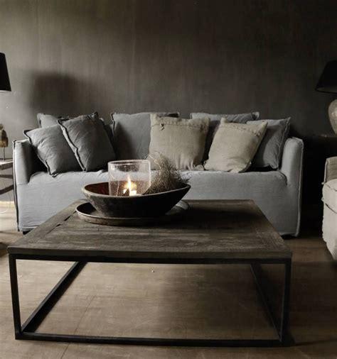 2 vierkante salontafels vierkante salontafel gemaakt van oud hout salontafels