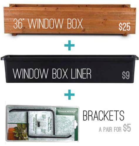 window box brackets for brick challenge planting hanging window