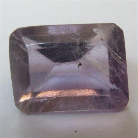 Kecubung Kalimantan Ungu Luster 850 batu permata amethyst rectangular cut 1 60 carat
