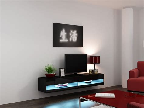black led table l furniture l shaped floating tv cabinets with storage