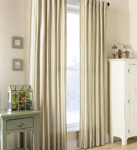 double wide curtain panels window curtains 84 quot ticking stripe double wide curtain