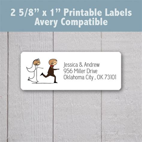 printable address labels wedding items similar to wedding address labels bride and groom