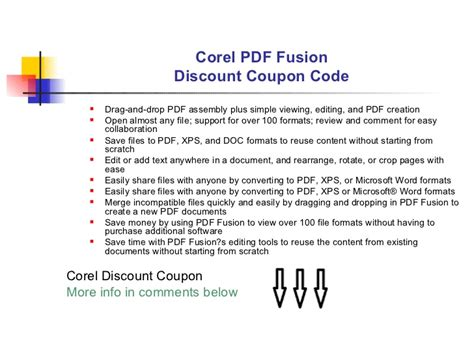 Corel Pdf Fusion Discount Coupon Code