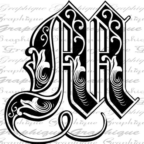 engraving letter templates letter initial m monogram engraving style type text