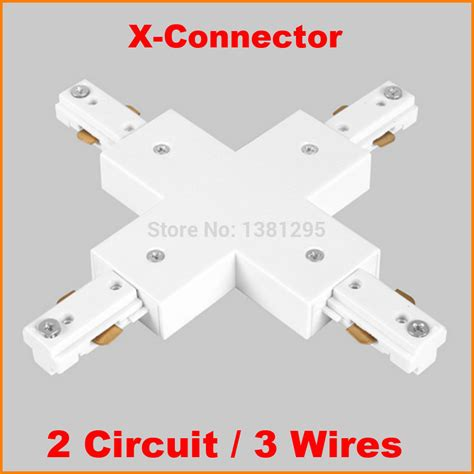 track lighting connector types 3 wire 2 circuit led lighting track rail x shape connector