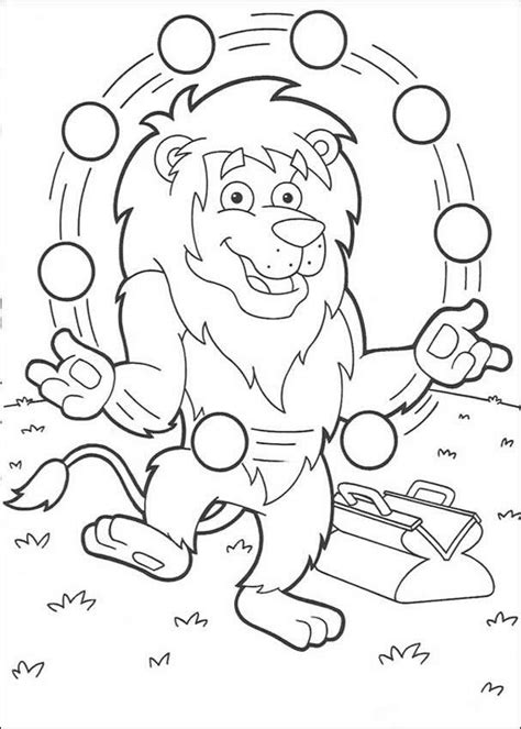 printable juggling instructions juggling lion coloring pages hellokids com