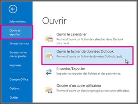 Archiver Calendrier Outlook 2007 Ouvrir Et Fermer Des Fichiers De Donn 233 Es Outlook Pst