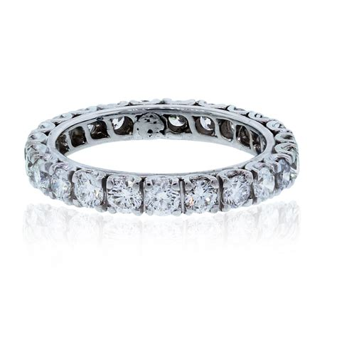 18k white gold 1 8ctw eternity band ring