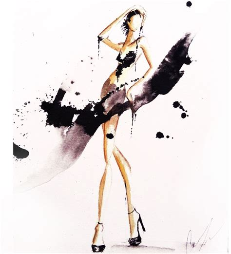 fashion illustration watercolour watercolor fashion illustration by thompson