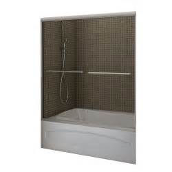 home depot tub shower doors maax tonik 2 panel frameless tub shower door 59 1 2 inches