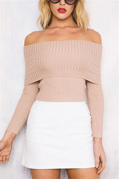 light pink oversized sweater light pink off the shoulder sweater baggage clothing