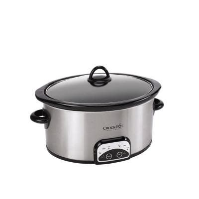 Crockpot 7 Qt Manual Slow Cooker In Stainless Steel