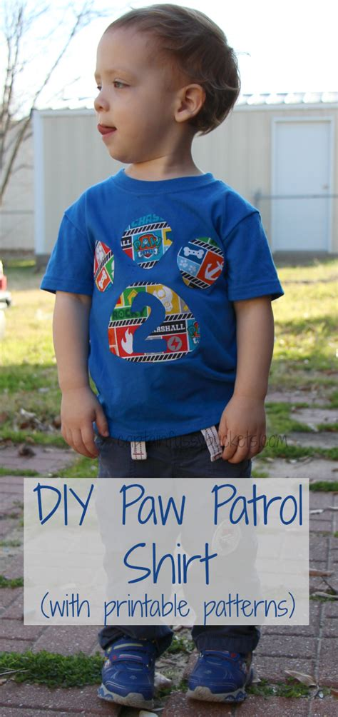 Kids Crafts For Dads Birthday - easy diy no sew paw patrol shirt with free template printables ginger casa
