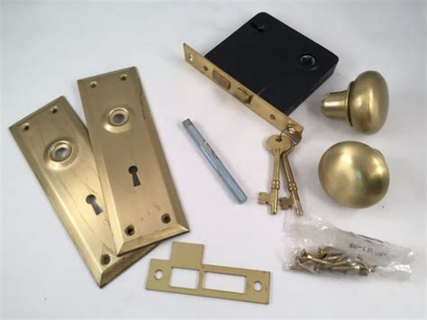Door Knob And Deadbolt Set by New Vintage Brass Deadbolt Door Knob Set By Thefreckledberry
