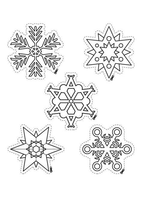 imagenes de estrellas de navidad para imprimir copos de nieve para colorear e imprimir imagui