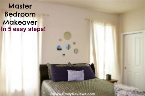 easy bedroom makeover diy master bedroom makeover in 5 easy steps emily reviews