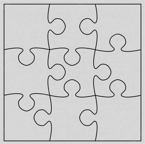 blank puzzle template 89 printable puzzle pieces autism puzzle template
