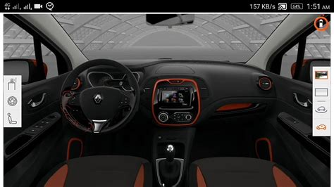 renault captur interior at renault captur 2017 interior design and colors 360 view