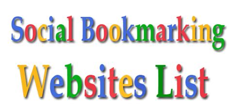 social bookmarking sites list 2014 new updated social bookmarking sites dofollow free
