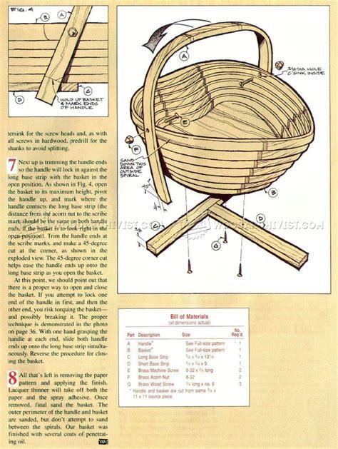 collapsible wooden basket plans woodarchivist