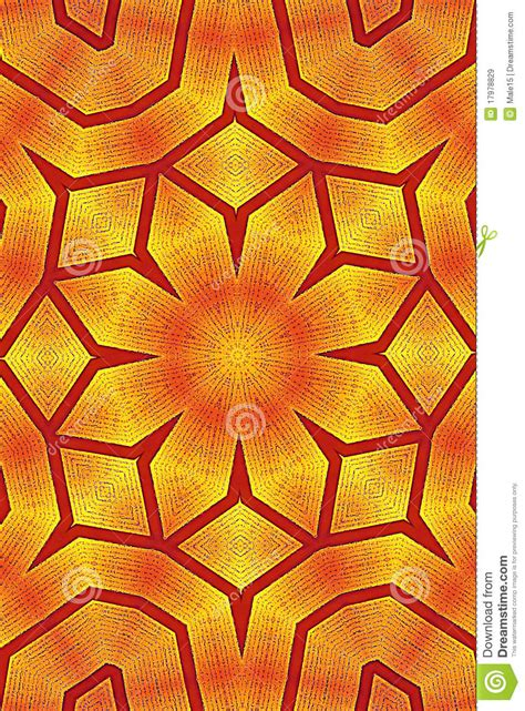 kaleidoscope pattern wallpaper golden flower kaleidoscope wallpaper pattern stock image