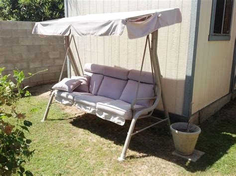 Backyard Creations Warranty Courtyard Creations Rus418a Patio Swing Canopy And Cushion