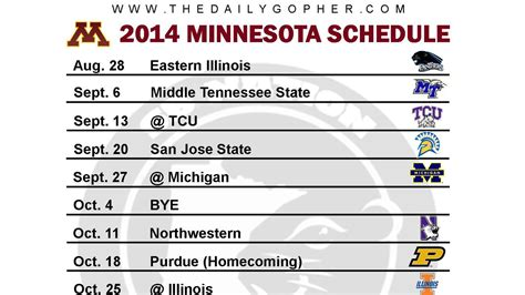 printable daily nba schedule printable minnesota gophers football schedule 2014 the