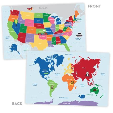 united states map activity activity placemat united states and world map tickled