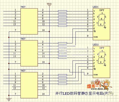 led common cathode circuit parallel led digital static display circuit common cathode 555 circuit circuit