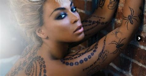 does beyonce have tattoos beyonce with painted tattoos done by artist jenai chin