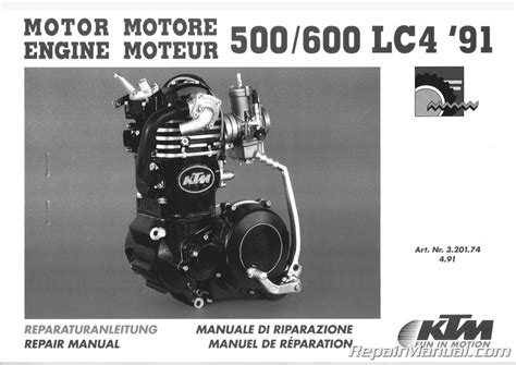 KTM Manual 1991 1992 500 600 LC4 Engines