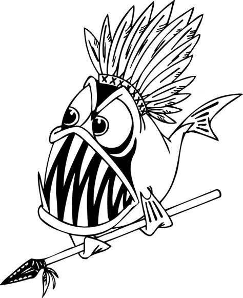piranha coloring page az coloring pages