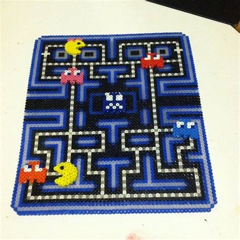 perler bead pacman perler pacman and boards on